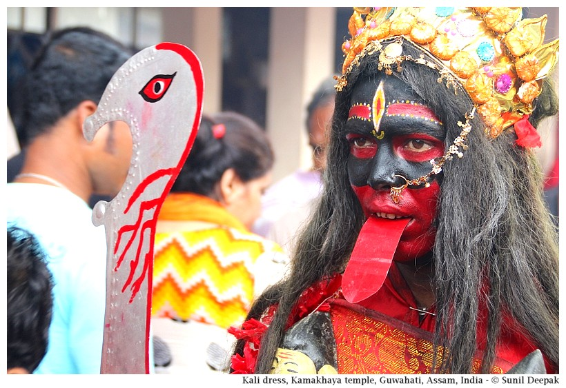 Kali ma, Ambubashi, Kamakhaya temple, Guwahati, Assam, India - Images by Sunil Deepak