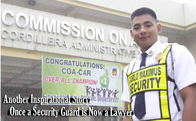 Another Inspirational Story: Once a Security Guard is Now a Lawyer