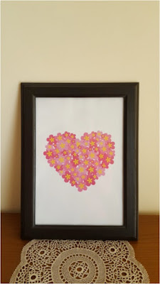 Valentine's Day Decor - flowery heart - free printable