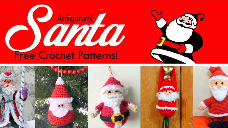 10 Free Santa Crochet Patterns | 450x800