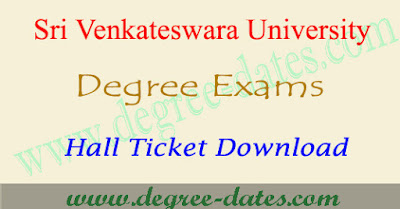 SV University degree hall tickets 2018 svu ug exam results