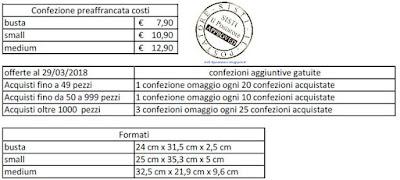 Costo Confezioni preaffrancate Posta free