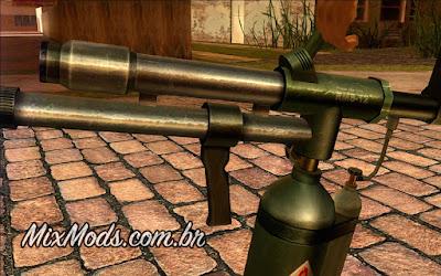 90s Atmosphere Weapons Pack (flamethrower em HD para GTA SA)