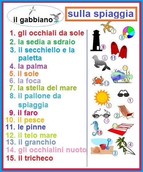 итальянский язык пляж слова