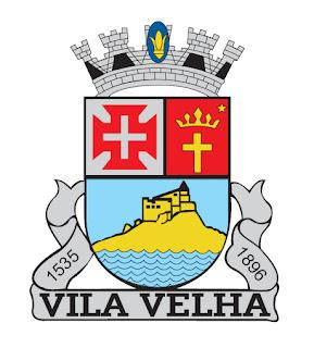 Brasão de armas do município de Vila Velha, ES. Fonte: site oficial da PMVV.