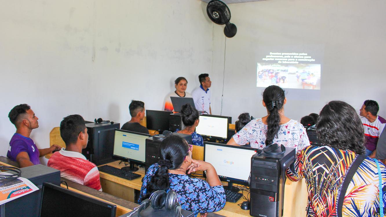 Aulas do Tecnologia no Campo iniciam em Mamuru; iniciativa é de ONG de Juruti