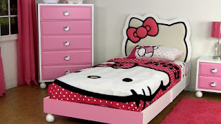Gambar Kamar Hello Kitty Warna Pink 9
