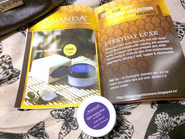 Ananda Spa Light Moisturiser for Oily Skin