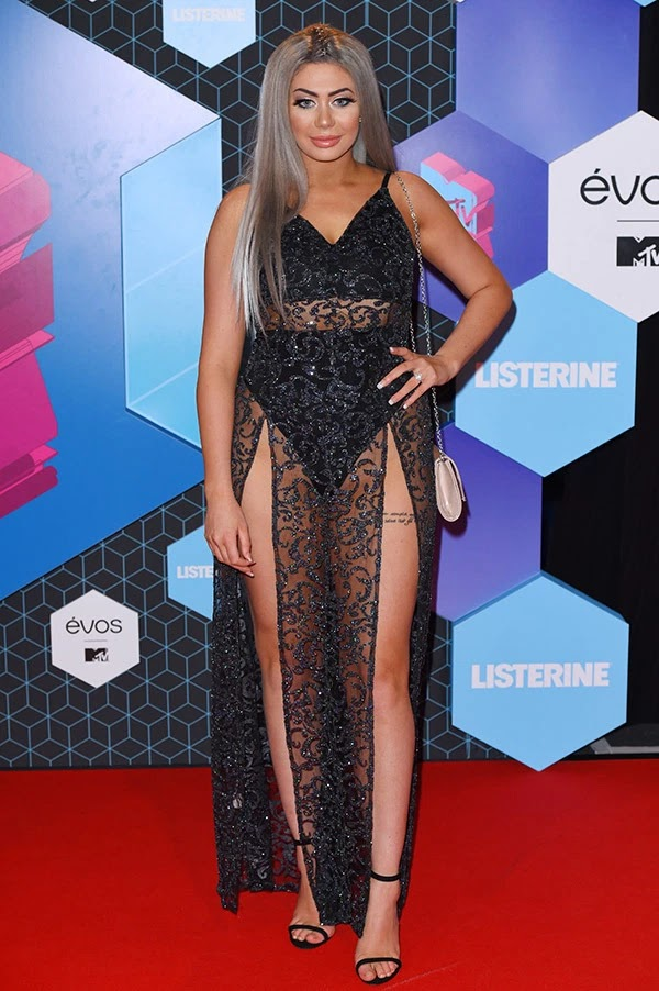 Chloe Ferry attends the MTV Europe Music Awards