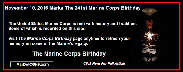 The Marine Corps Birthday