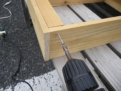 杉の角材 固定 ストッパー