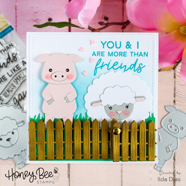 Farm Animal Friendship Card by ilovedoingallthingscrafty
