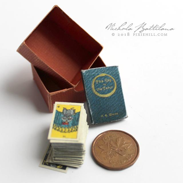 """Roses and Lilies"" Waite Rider Smith miniature tarot - Nichola Battilana pixiehill.com"