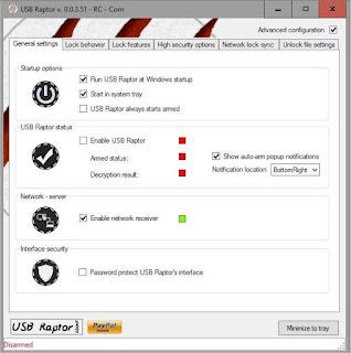 برنامج مفتاح الكمبيوتر USB Raptor