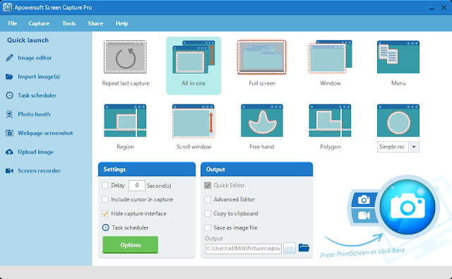 Key - Crack For Apowersoft Screen Capture Pro 1.2.1
