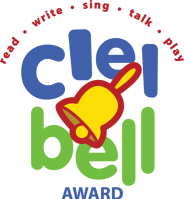 LOGO: CLEL Bell Award read write sing talk play