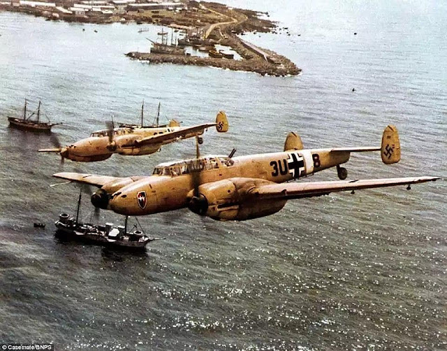 Bf 110s color photos of World War II worldwartwo.filminspector.com