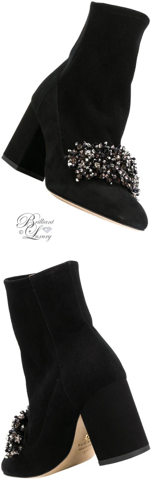 Brilliant Luxury ♦ Elie Saab embellished boots