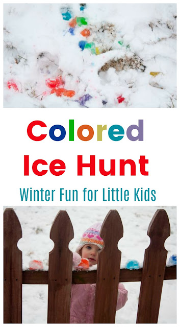 Freeze Colored Water for Kids to Hunt in the Snow