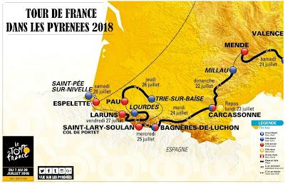 Tour de France dans les Pyrénées 2018