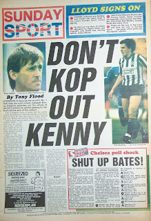 Back page of the Sunday Sport from 15 Feb 1987