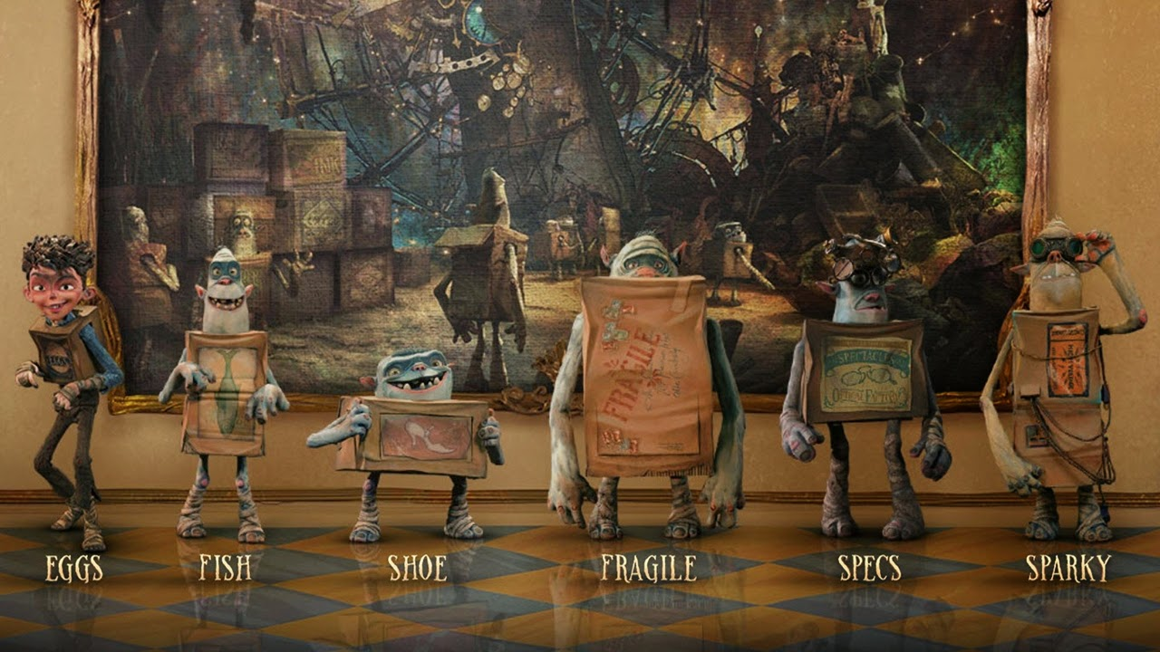 the boxtrolls-isaac hempstead wright-eggs-dee bradley baker-fish-steve blum-shoe-pat fraley-fragile-fred tatasciore-specs-sparky