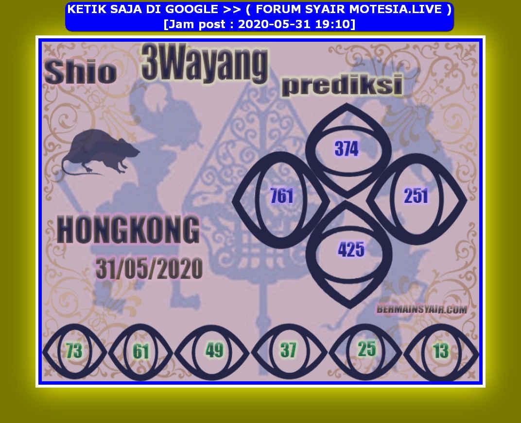 Kode syair Hongkong Minggu 31 Mei 2020 99