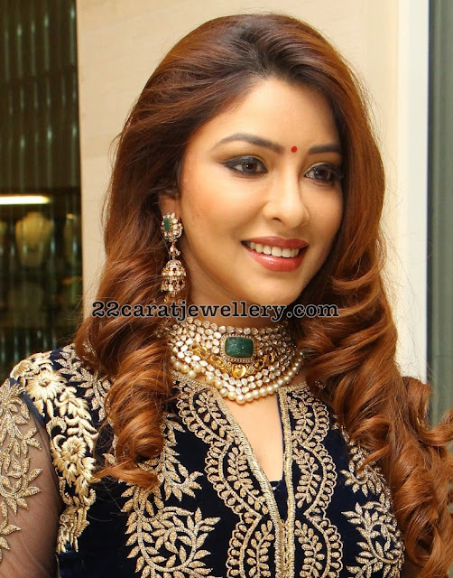 Payal Ghosh Pachi Choker Jhumkas