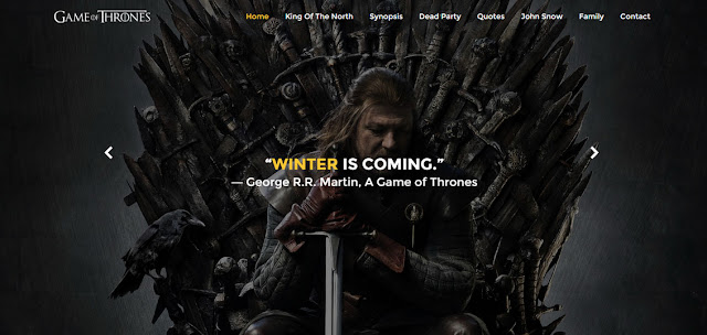 Game of Thrones Responsive Template