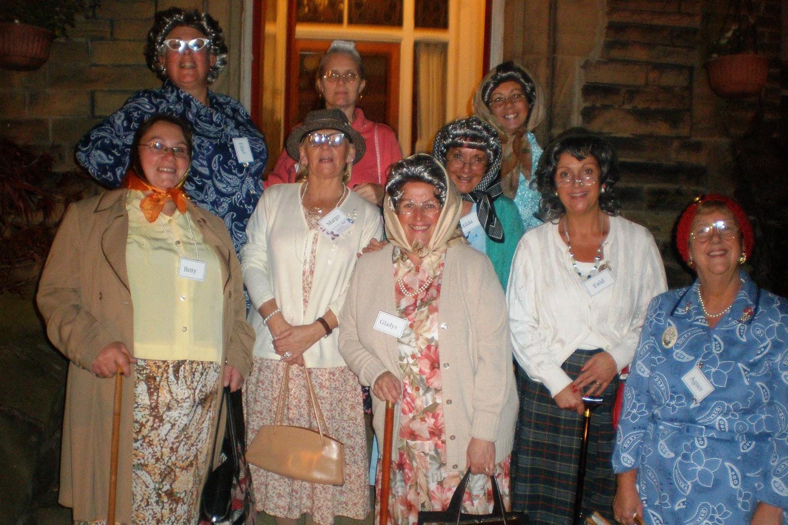 Group Of Old Ladies 35