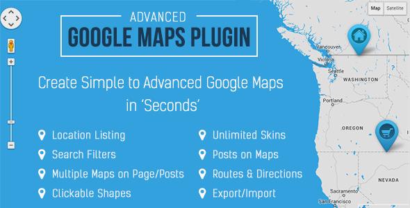Advanced Google Maps Pro v3.4.5 Plugin for Wordpress