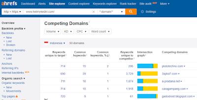 menemukan kompetitor domain