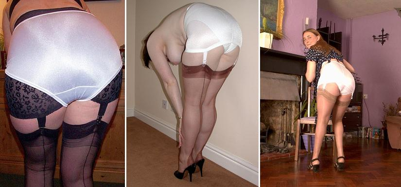 Spanked wearing a girdle