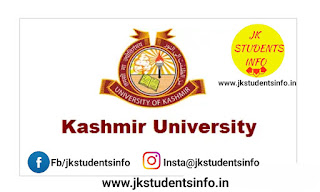 Kashmir university Today's Various results ( D D E MA Urdu, English