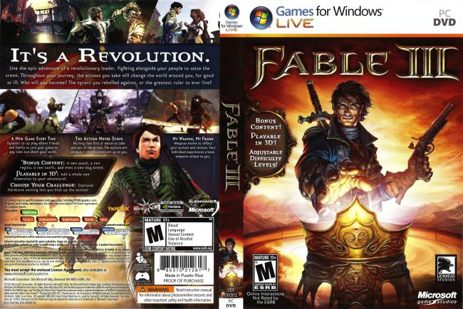 http://games-x-holic blogspot com: Fable III (FULL ISO + Repack