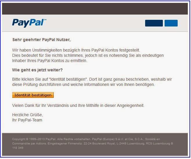 paypal identität bestätigen