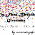 MY FIRST BIRTHDAY GIVEAWAY BY MIAMORZAFIRAH