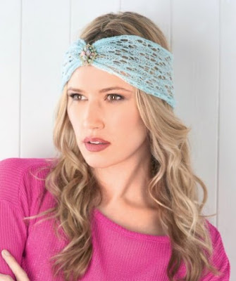 The Vintage Pattern Files: Free 1920s Style Knitting Pattern -  Lace Headband