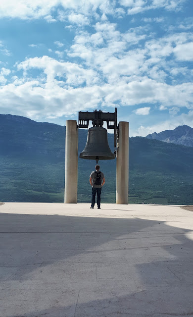 Bjorn Troch at the bell of the fallen at Campana Dei Caduti in Rovereto, Trentino