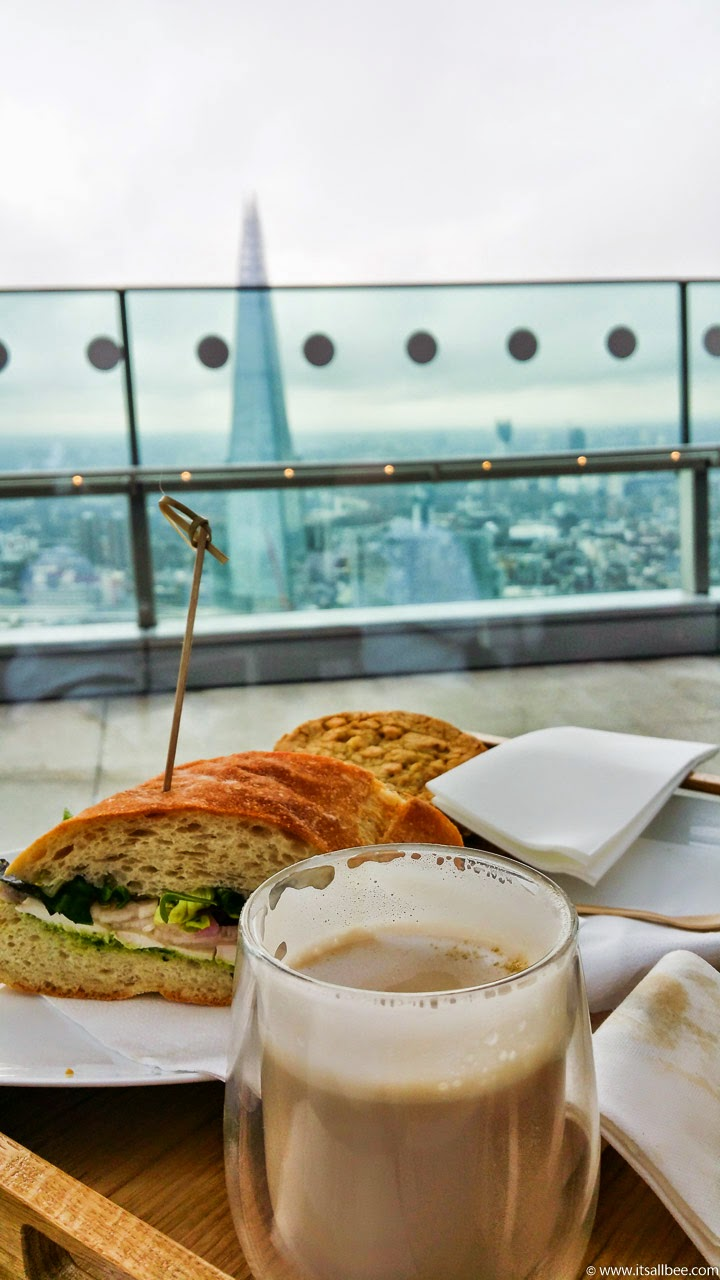 sky pod bar london breakfast | Fenchurch Street Walkie Talkie | London Rooftop Garden | Breakfast In London's Sky Pod
