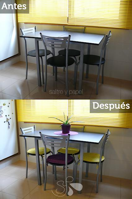 sillas con trapillo antes y después