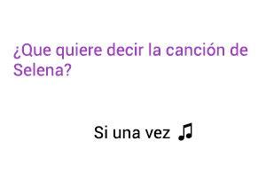 Significado de la canción Si Una Vez Selena.