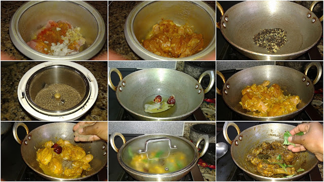images of Spicy Pepper Chicken Fry / Easy Pepper Chicken Fry / Milagu Chicken Varuval / Milagu Kozhi Varuval