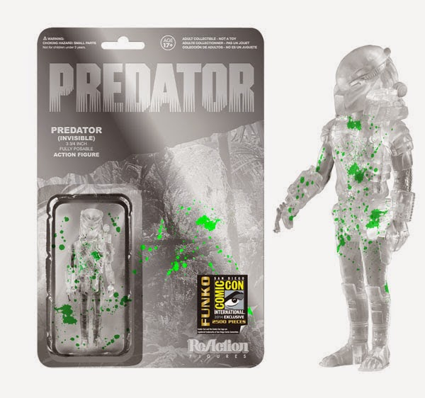 San Diego Comic-Con 2014 Exclusive Blood Splattered Invisible Predator ReAction Retro Action Figure by Funko & Super7