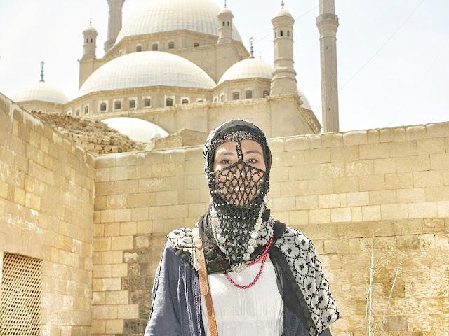 日本人ムスリマのエジプト風おしゃれヒジャブとヤシュマク