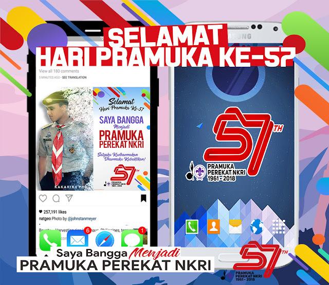 Download Wallpaper, Twibbon, Bingkai Dan Logo Hari Pramuka Ke-57