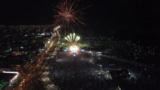 Reveillon superou as expectativas, Cerca de 150 mil pessoas brindaram a chegada de 2019 na Ilha