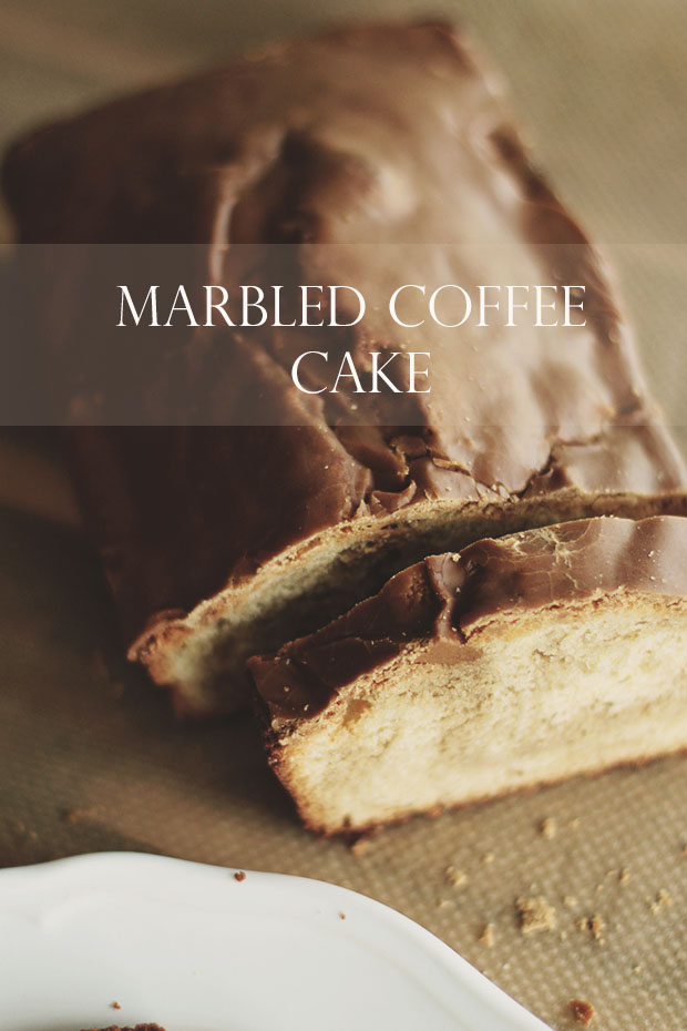 Marbled coffee cake