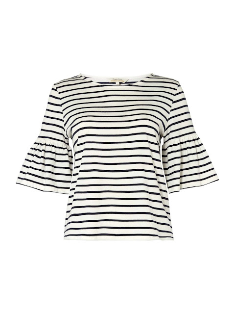 people tree short sleeve top with ruffles