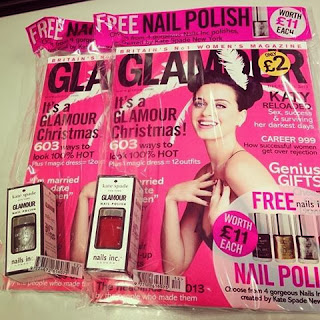 Free Nails inc by Kate Spade nail polish with Glamour magazine